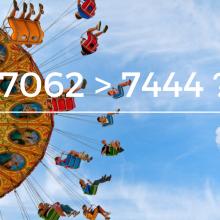 7062 > 7444 ?
